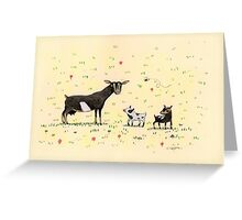 A Doe & Her Kids Greeting Card