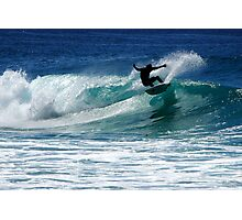 Surfing at Dalmeny Photographic Print