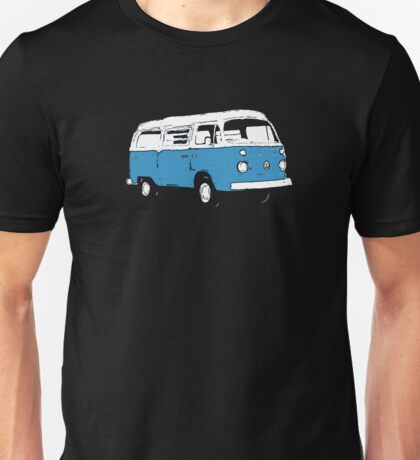 New Bay Campervan Blue Unisex T-Shirt