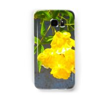 Yellow Flower with Leaves Samsung Galaxy Case/Skin