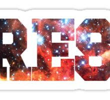 Colorful Colliding Star Clusters | Fresh Universe Logo Sticker
