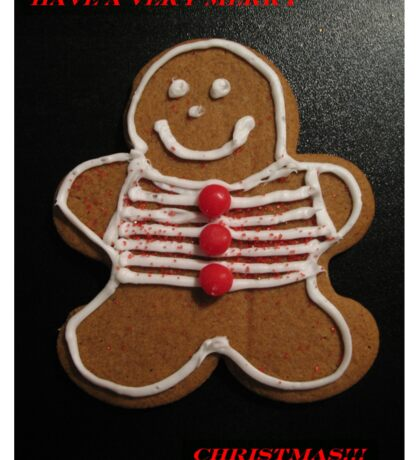 Gingerbread Cookie Christmas Card Sticker