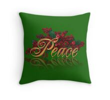 Peace for Christmas Throw Pillow