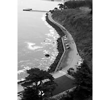 View from the top of the Golden Gate Bridge  Photographic Print
