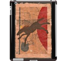 BROWN HORSE FLYING RED BALL iPad Case/Skin