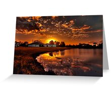Reflecting sun Greeting Card