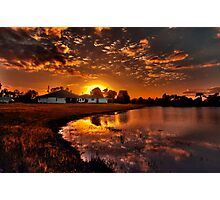 Reflecting sun Photographic Print