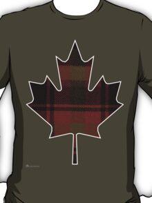 Canada's National Tartan in Maple Leaf  T-Shirt