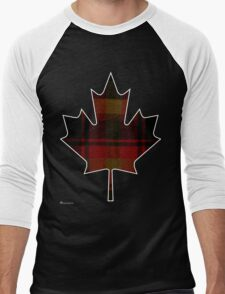 Canada's National Tartan in Maple Leaf  Men's Baseball ¾ T-Shirt
