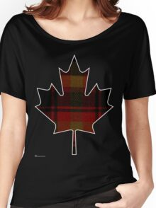 Canada's National Tartan in Maple Leaf  Women's Relaxed Fit T-Shirt