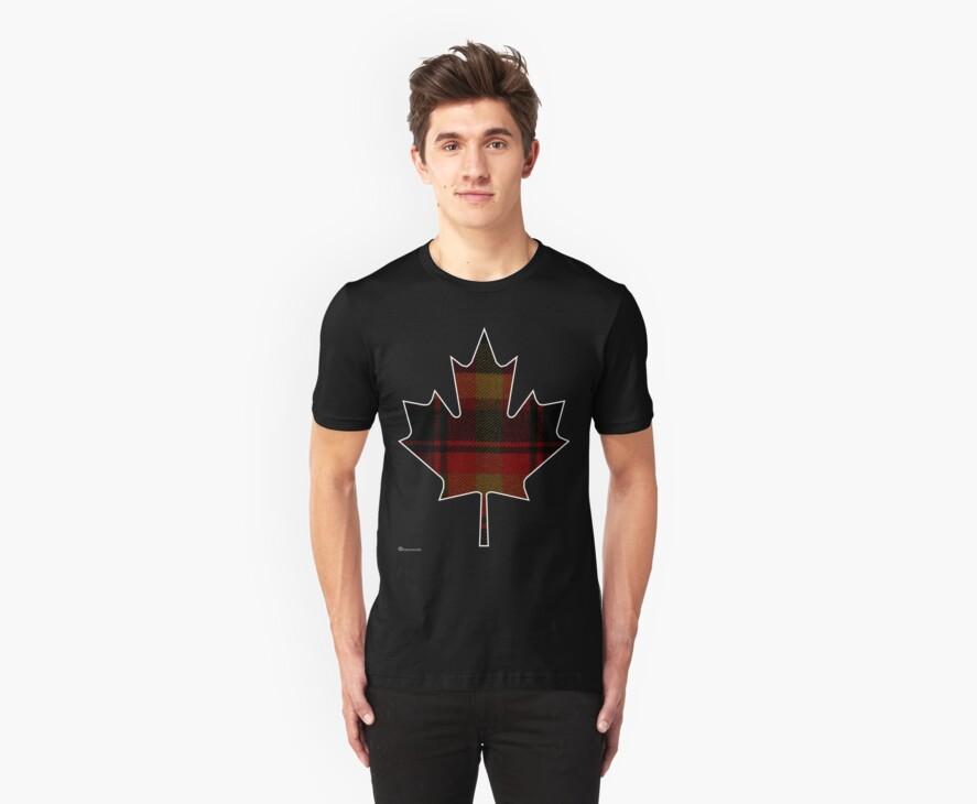Canada's National Tartan in Maple Leaf  by Detnecs