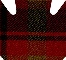 Canada's National Tartan in Maple Leaf  Sticker