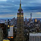 Empire State Building (Dusk) by Randy  Le'Moine