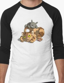 Totoro - Catbus Men's Baseball ¾ T-Shirt