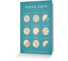 Vintage Style Cuts of Pizza Illustration Greeting Card