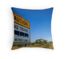 Road Trains Are Sizeable Throw Pillow