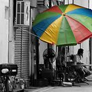 Umbrella in the Backlane by Halcyon