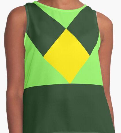 Minimalist Peridot Uniform / Yellow Diamond (Steven Universe inspired) Contrast Tank