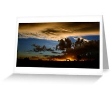 Outback canvas Greeting Card