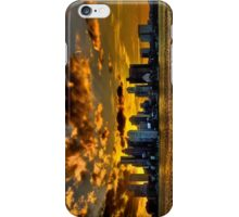 Sunset over Boston Harbor iPhone Case/Skin