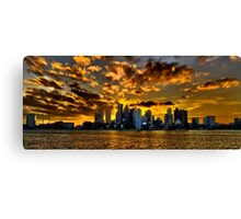 Sunset over Boston Harbor Canvas Print