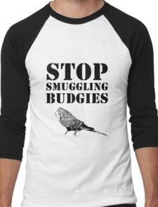 Stop smuggling budgies Men's Baseball ¾ T-Shirt
