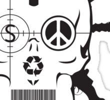 Doom Skull, Beware! Sticker
