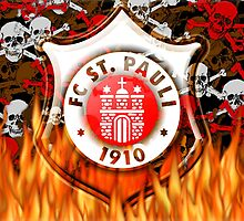 FC ST Pauli Flame and Skull Shield Design by Sookiesooker