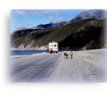Alaska Canadian Highway Canvas Print