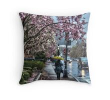 First Spring Rain Throw Pillow