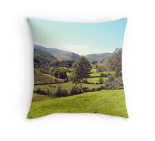 Lake District Valley Throw Pillow
