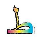 Brush Stroke-Arabic Letter ṭā' ◆ ط by Tahir Chaudhry