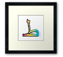 Brush Stroke-Arabic Letter ṭā' ◆ ط Framed Print