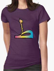 Brush Stroke-Arabic Letter ṭā' ◆ ط Womens Fitted T-Shirt