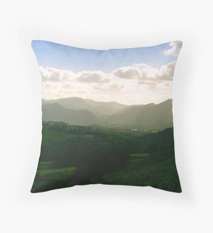 View Across The Mountains Throw Pillow