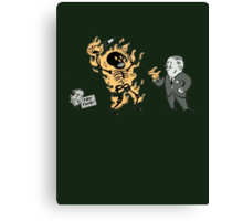 Bioshock incinerate advert Canvas Print