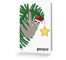 Peace Sloth Greeting Card