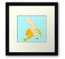 Banana Pixel Art Framed Print
