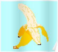 Banana Pixel Art Poster