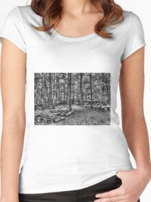 Forest 4 Women's Fitted Scoop T-Shirt