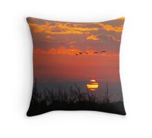 Sunrise Migration Throw Pillow