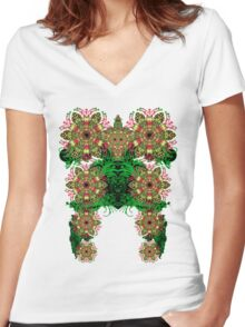 psytowers Women's Fitted V-Neck T-Shirt
