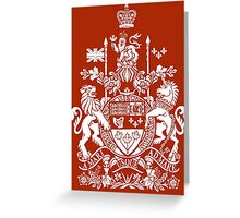 CANADA-COAT OF ARMS Greeting Card
