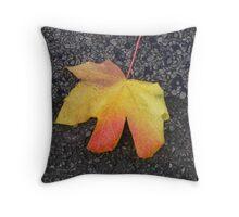 coloured leaf Throw Pillow