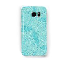 Turquoise spirals  Samsung Galaxy Case/Skin