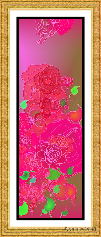 ROSE PANEL 2400x5600 by Dominic Melfi