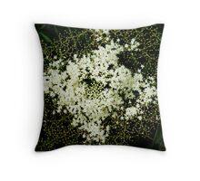 white wildflower Throw Pillow