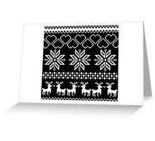 Winter time Black Greeting Card