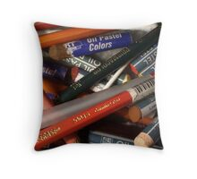 Pencils & Pastels Throw Pillow