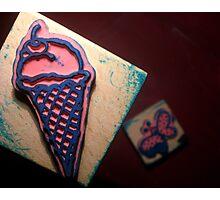 Icecream Stamp Photographic Print
